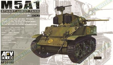 AF35105 M5A1 Stuart Light Tank Early Production SCALE 1:35